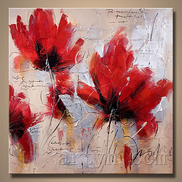 Newest Handmade Modern Impressionist Flower Oil Painting For Decor