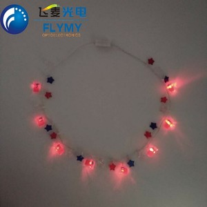 Factory selling Christmas and Event party flashing light up necklace