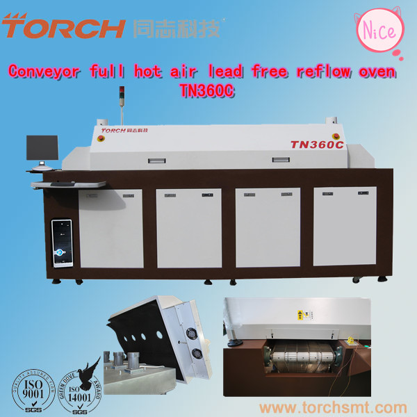 Lead-Free hot air reflow oven/PCB Board Solderng System TN360C (Torch)