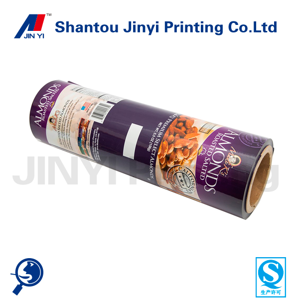 Laminated foil on roll film based packaging