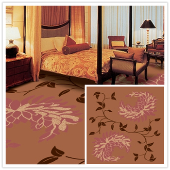 Hotel Carpet Factory Wholesale New Fashioned Abstract Simple Flower Design Floor Rug Wool Tile