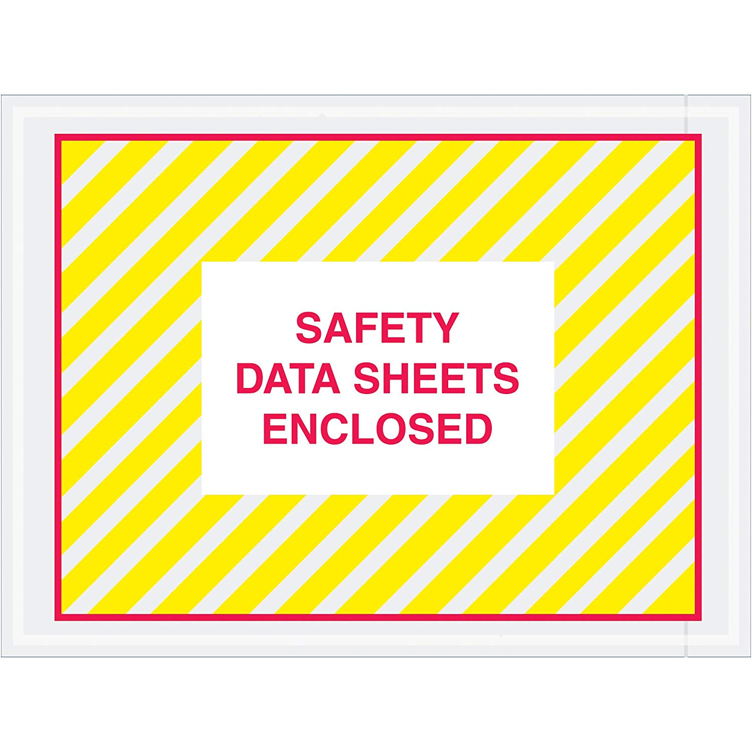 """Aviditi PL498 Tape Logic SDS Envelopes, """"Safety Data Sheets Enclosed"""", 4 1/2"""" x 6"""", Printed Clear (Pack of 1000)"""