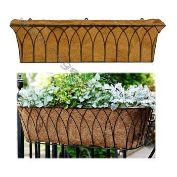 Wrought Iron Window Box Wall Basket Flower Planter