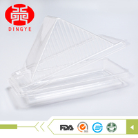 Wholesale custom disposable plastic container triangle sandwich packaging for bakery