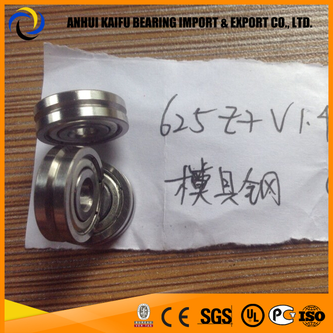 625 ZZ Bearing sizes 5x16x5 mm track roller bearing v groove 625ZZ