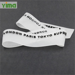 tpu private label yoga embossed clothing label