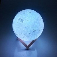 Portable Creative Luna Balloon Shaped Table Usb Rechargeable Battery Powered Christmas Kids Baby 3D Led Night Moon Light Lamp