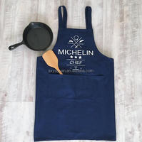 professional customized 240gsm cotton canvas bbq kitchen apron
