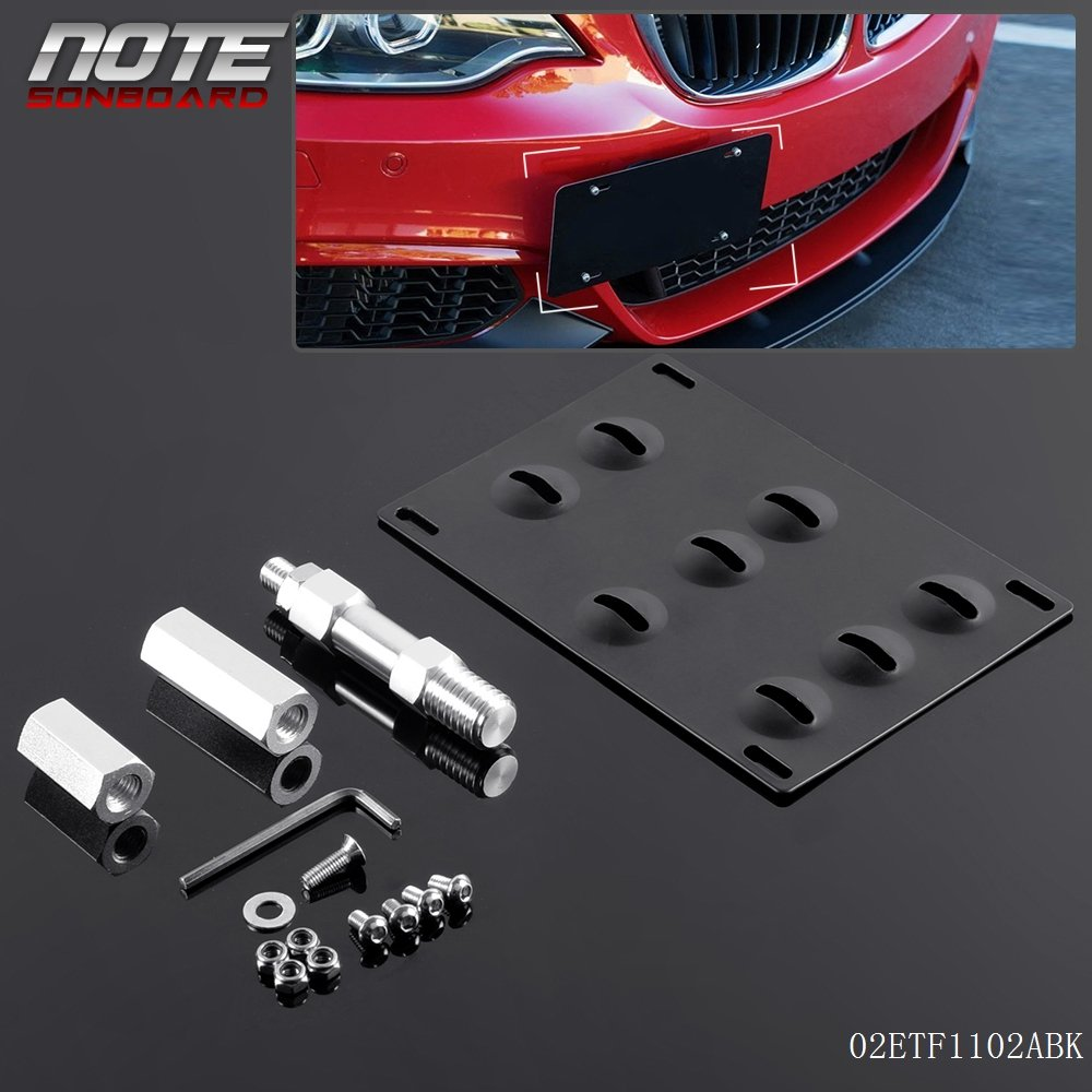 Front Bumper Tow Hook License Plate Mounting Bracket Holder for BMW F30 F32 F10