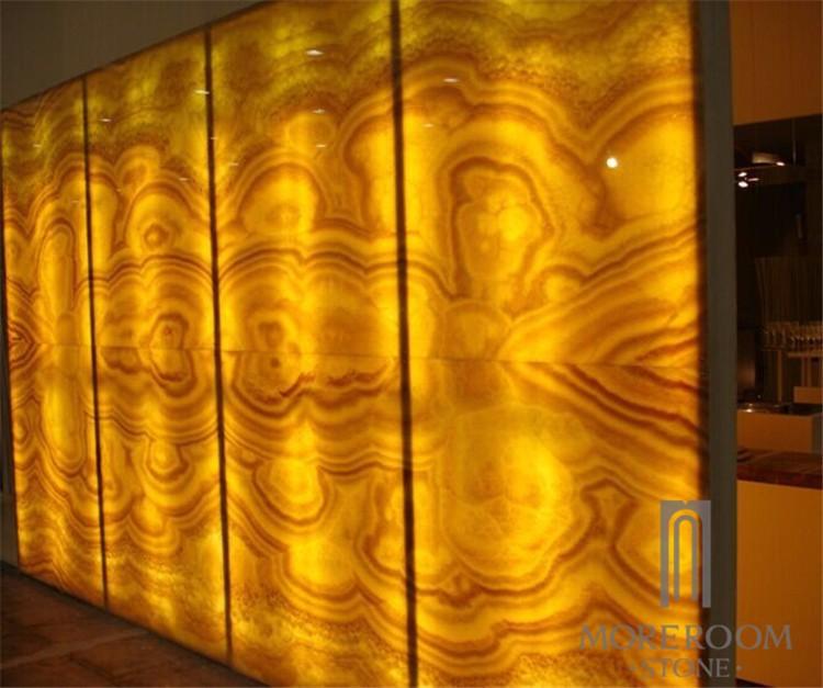 Different Colors Of Onyx Stone : Backlit onyx slab semi precious marble translucent honey
