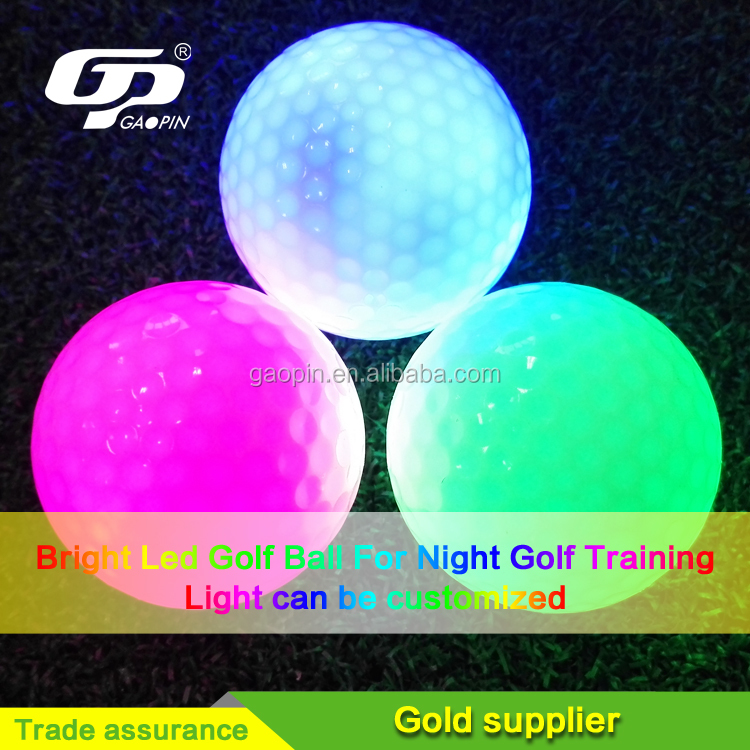 Customized 2 Pezzo LED Pratica Pallina Da Golf per la Notte