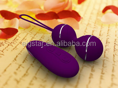 wireless remote control women sex toy dual vibrator for kegel exercise