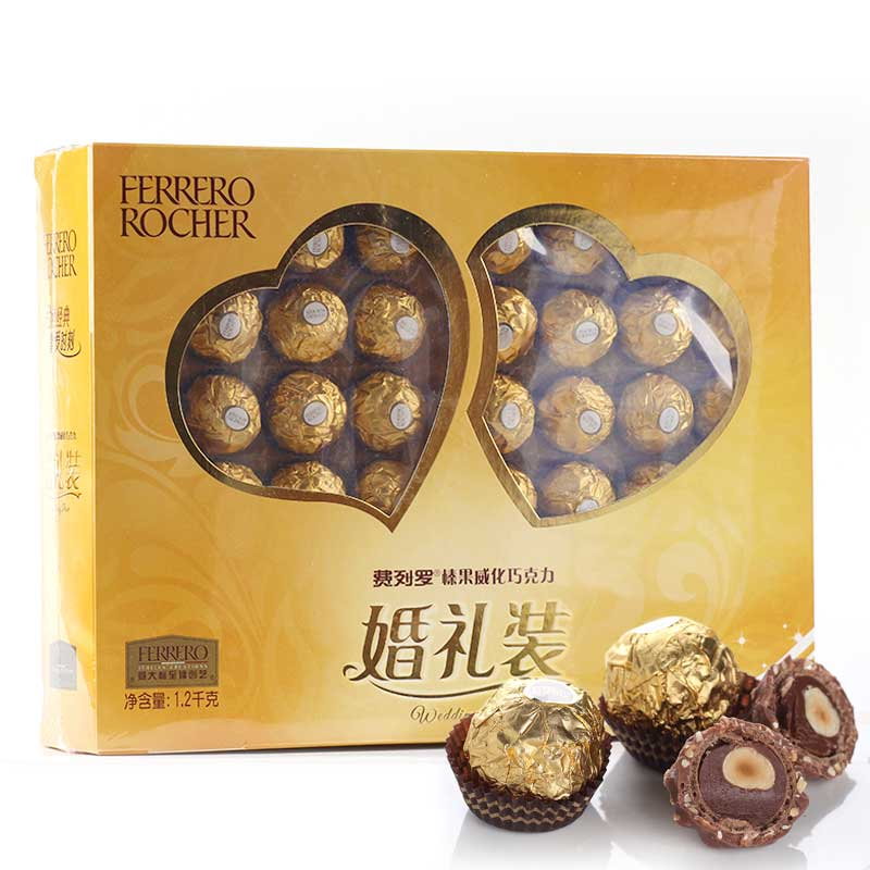 Sweet chocolate Product Type and Box Packaging Ferrero rocher chocolate candy1.2kg for wedding