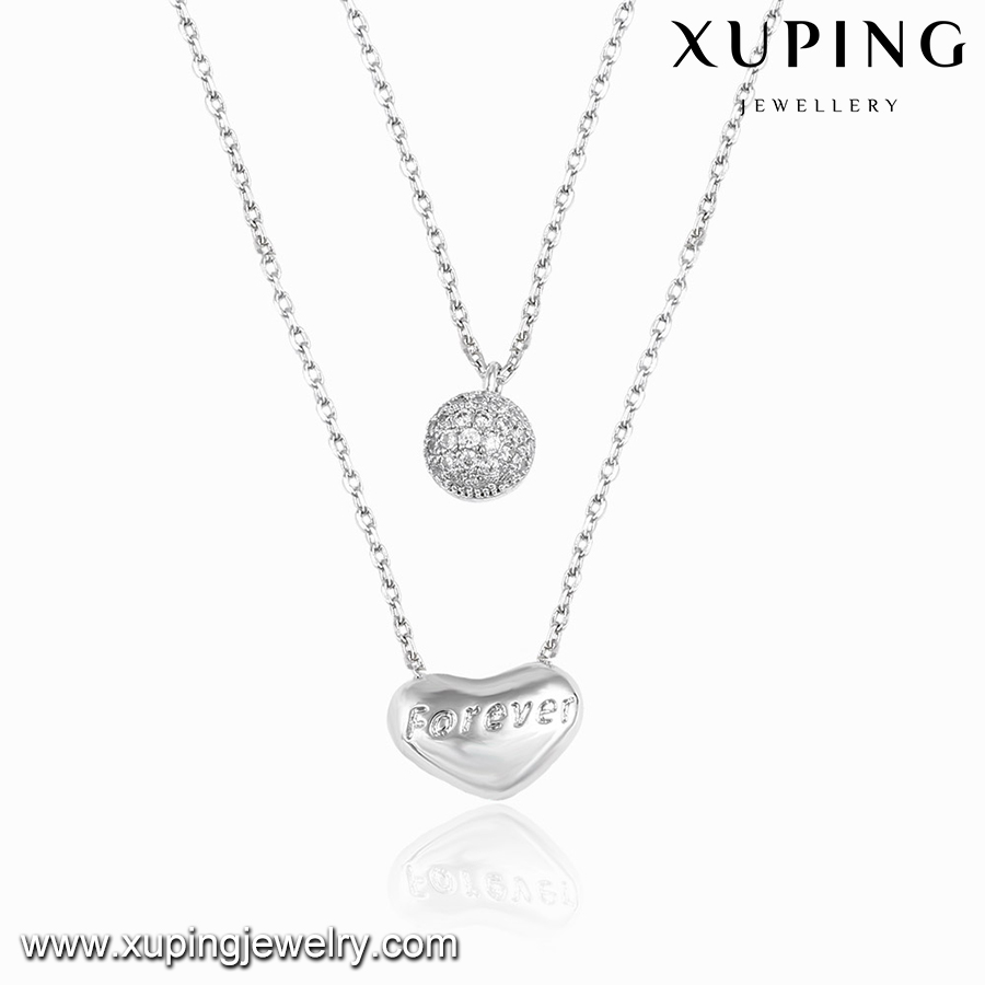 00108 XUPING girlfriend heart pendant necklace,heart locket necklace,love necklace