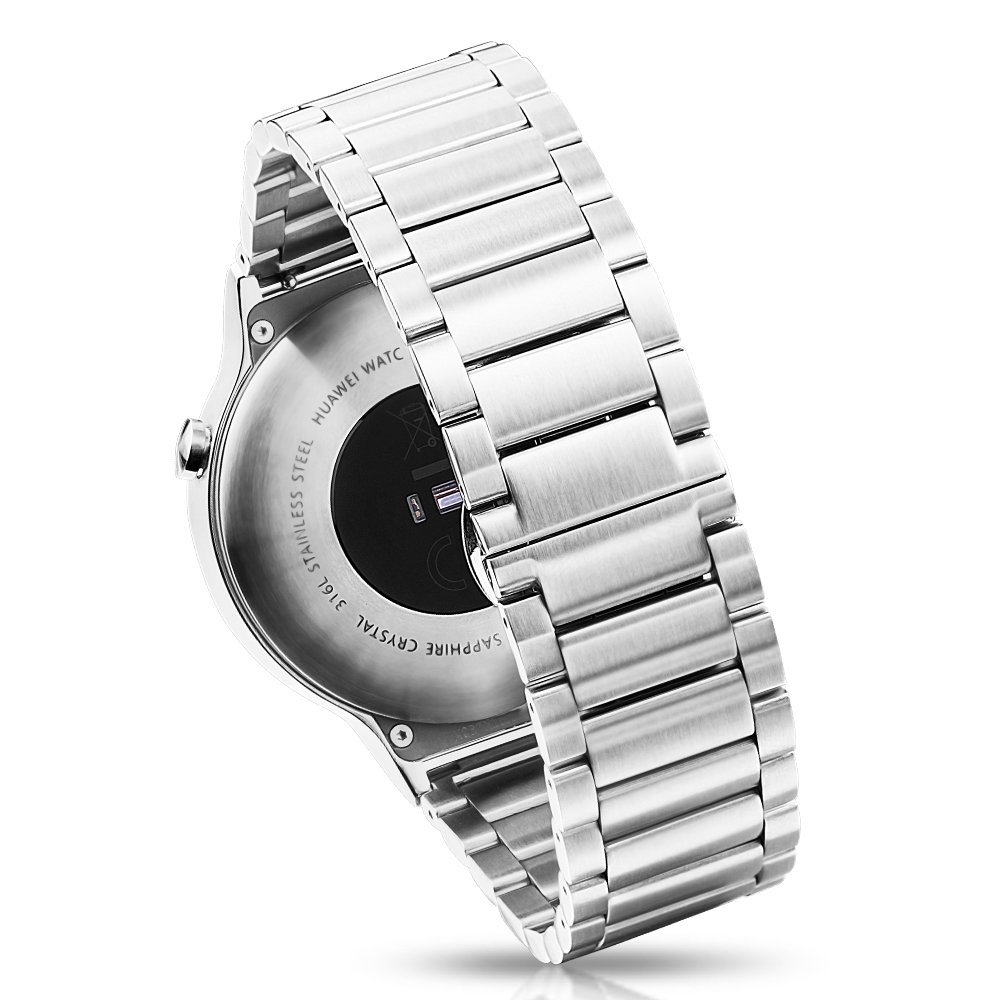 Hoco Huawei Watch Band Pinhen Stainless Steel Link Band High Quality Fashion 316l Stainless Steel Metal Iron Watch Bands for Huawei Watch Iwatch (Stainless Steel)