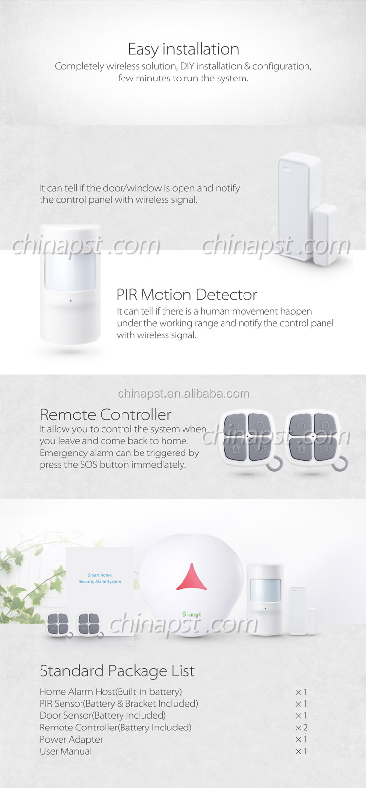 Cheap APP+GSM+IP Camera Smart Wireless Alarm GSM System PST-GS3, View Alarm  GSM System, PST Product Details from Shenzhen Professional Security