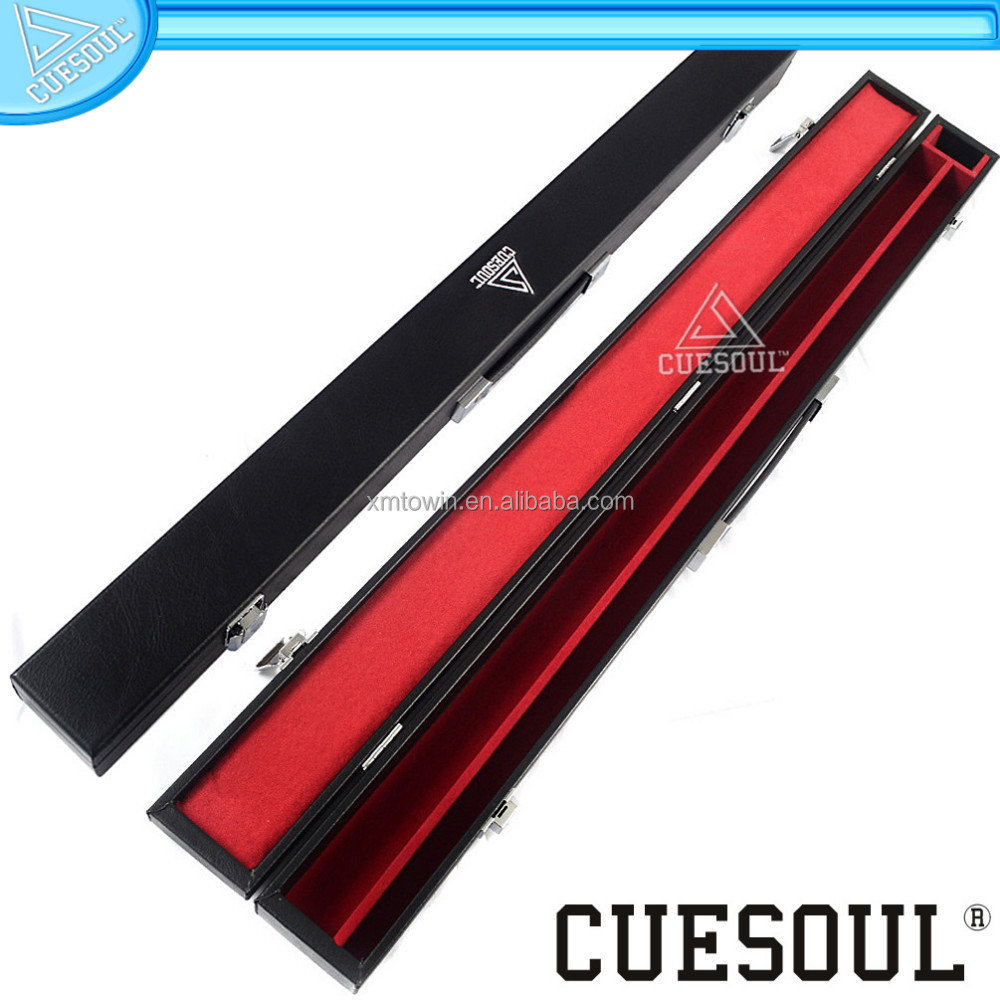 CUESOUL Wooden Pool Cue Billiard Cases covered with artificial leather, pool cue case