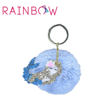 2018 Fashion Accessories mermaid fur key chain for girls