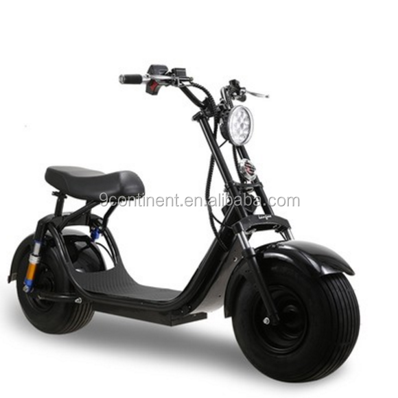 1000w front and rear shock suspension scrooser citycoco electric scooter with double seat