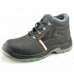 Leather upper PU sole russian winter safety boots for men