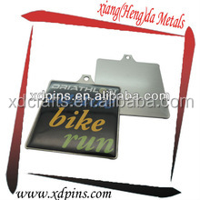 printing metal bike head badge for running race
