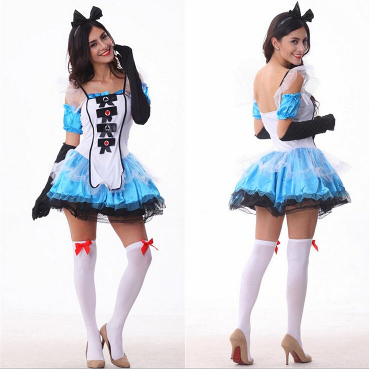 Fantasy-Blue-Dress-Alice-In-Wonderland-Costumes-Women ...