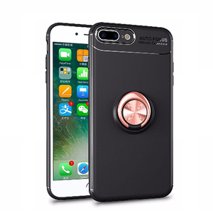 360 Degree Rotation TPU Phone Metal Magnet Ring Holder Case for iPhone 7