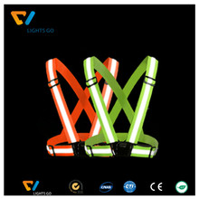 Hi-viz orange safety straps / Fluorescent yellow green reflective safety vest
