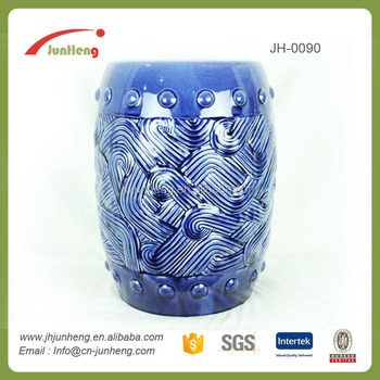 Fabulous Embossed Blue Ceramic Porcelain Stool Moroccan Stool Fishing Stool For Garden Buy Porcelain Stool Moroccan Stool Fishing Stool Product On Machost Co Dining Chair Design Ideas Machostcouk
