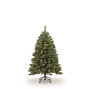 Puleo International 4.5 ft. Pre-Lit Northern Fir Artificial Tree with 250 Clear UL listed Lights