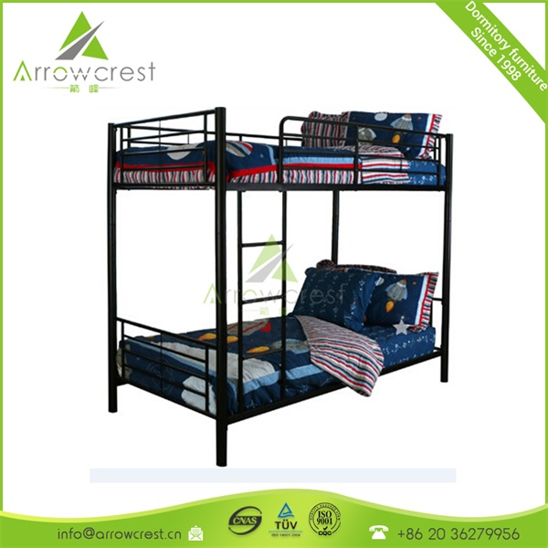 Guangzhou school pupil student bedroom dormitory furniture metal bunk bed wholesale