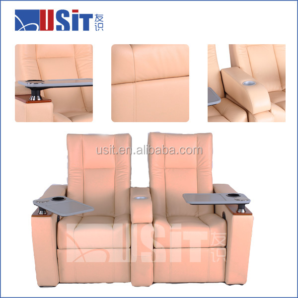 America Style Genuine Leather cinema recliner sofa
