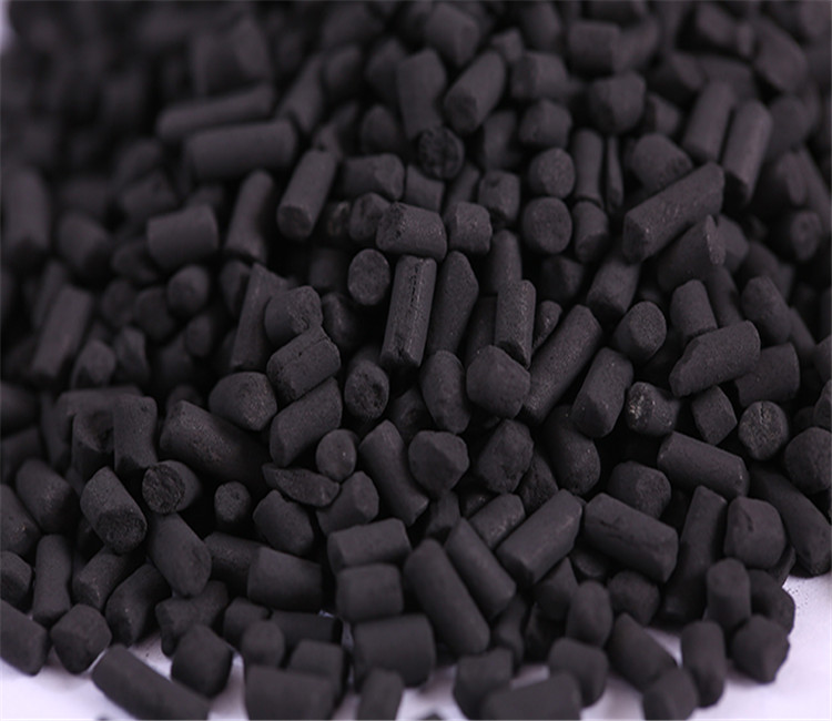 4mm high iodine value bulk coal based activated carbon pellet for air purification