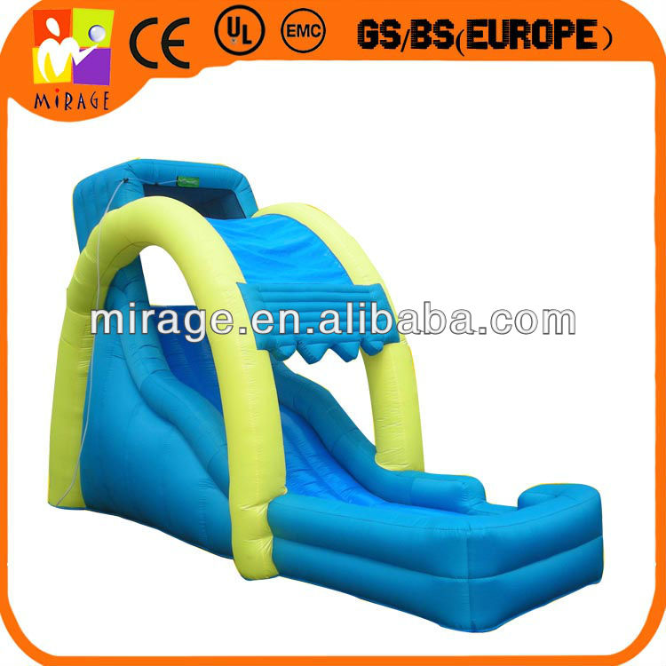 hot selling inflatable children's slide with pool, waterfall slide