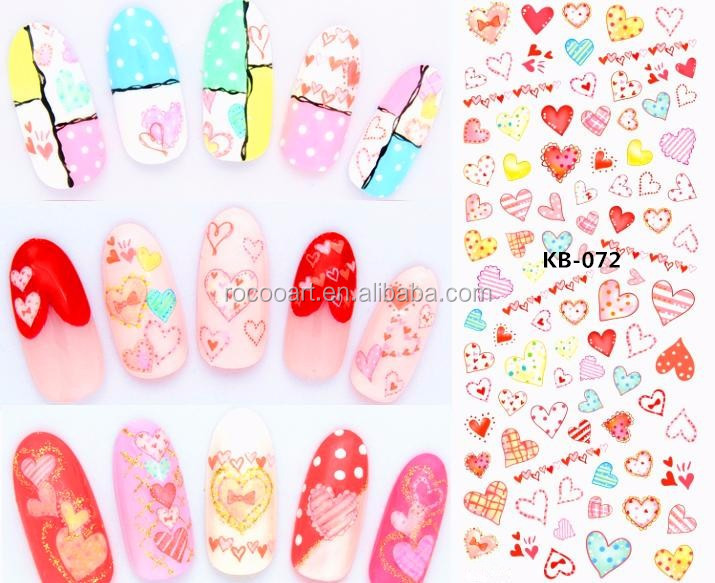 Ka-053/chinese Customs Water Slide Cherry Nail Art Transfer Stickers ...