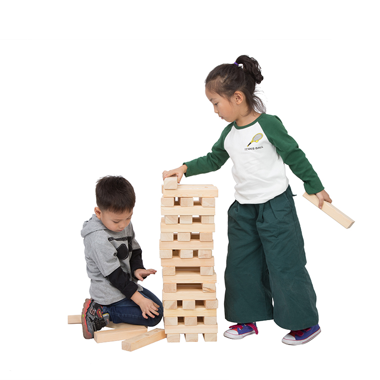 Hot selling wooden tumbling tower giant tumbling block <strong>game</strong>