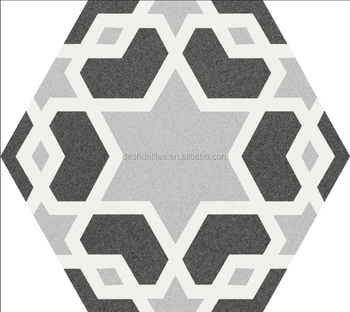 Nice Decorative Grey Color Hexagon Ceramic Tile Wall For And Floor