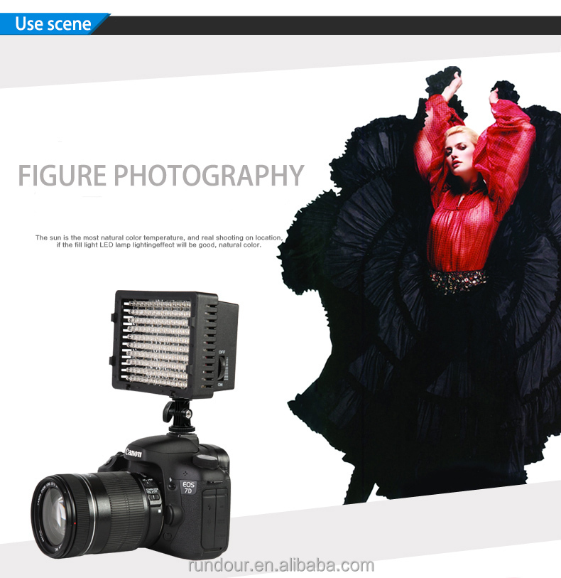 Hot Nanguan CN-160 On Camera Video LED Light with Multi Power Supply Source for Photography