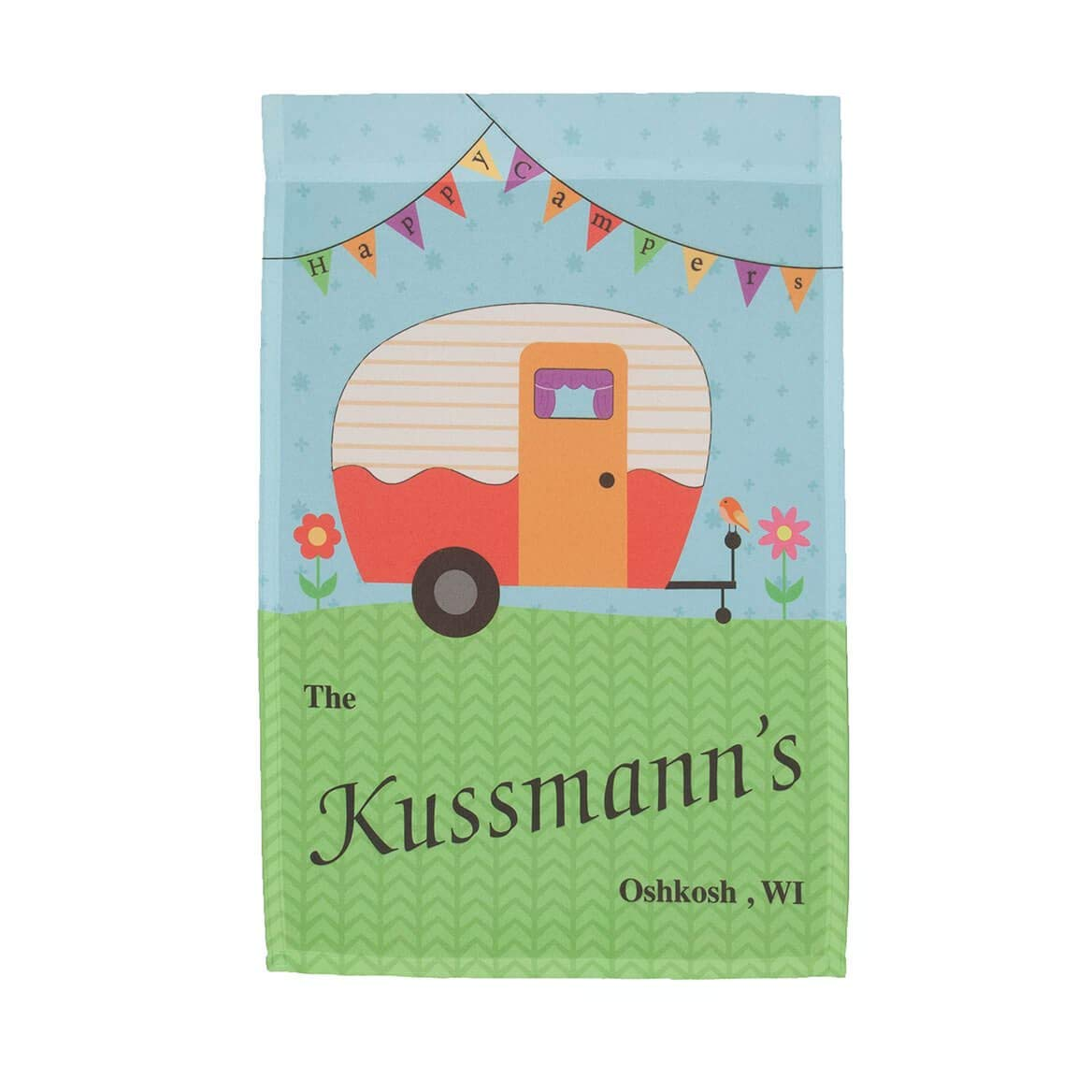 Miles Kimball Personalized Happy Campers Garden Flag