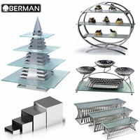 2018 Hot sales catering equipment good quality slate food display dessert table stand popular standing hanger rack for hotel