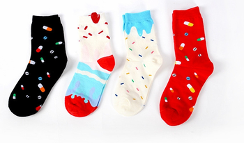 china factory custom made warm light up christmas socks