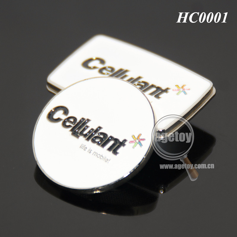 Golf Club Promotional Customized Square Shaped Hat Clip Round Shaped Metal Magnetic Golf Ball Marker