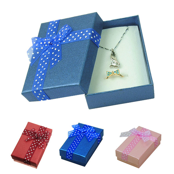 Get Quotations Jewelry Boxes Hard Paper Ring Earring Necklace Box Gift Package Case Packaging Display Color Random
