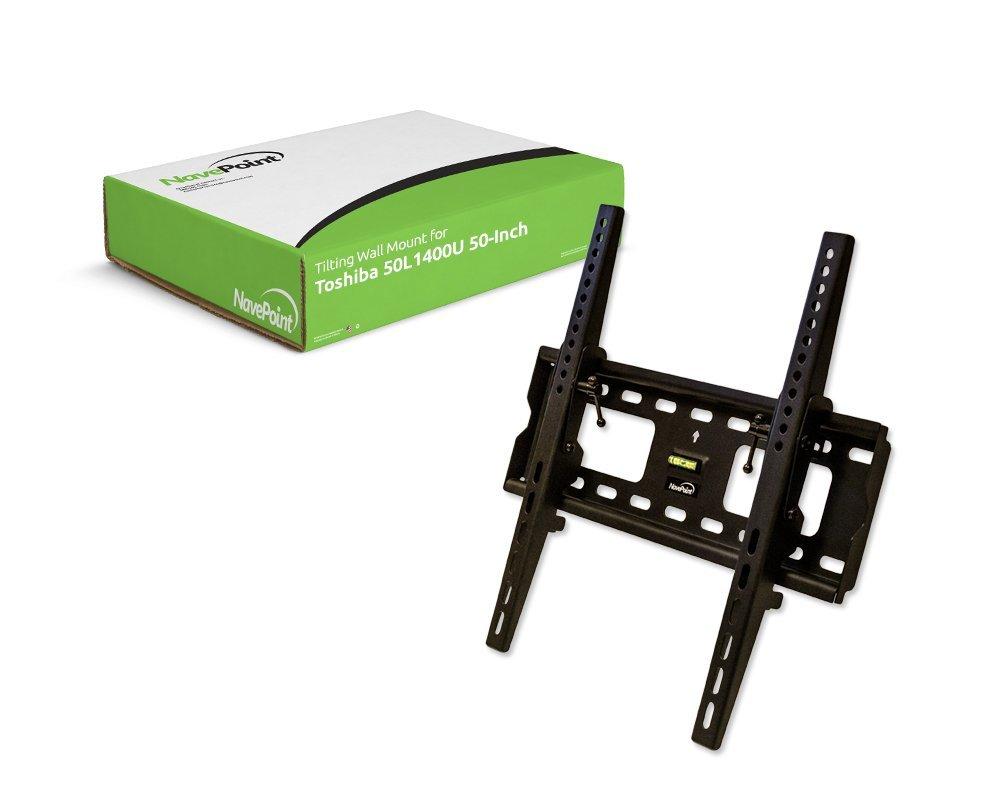NavePoint Tilting TV Wall Mount Bracket LCD LED Tilt for Toshiba 50L1400U 50-Inch TV New Black