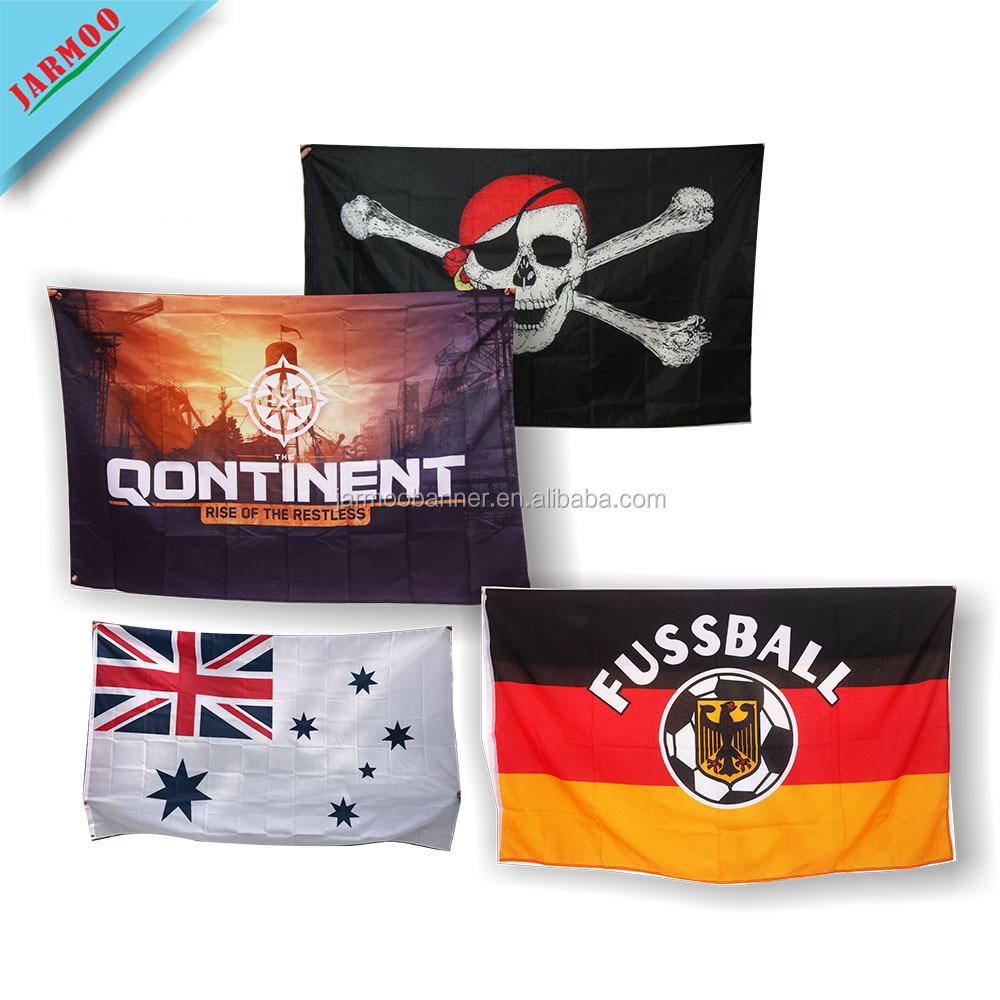 Custom Print Polyester Country Advertising Flag