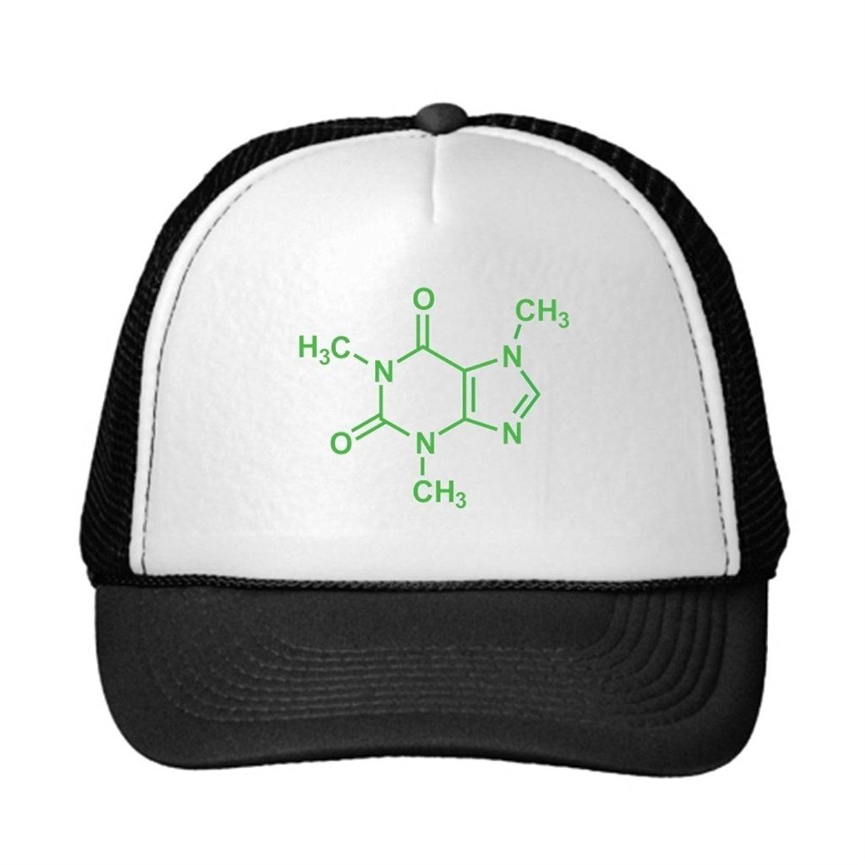 finest selection b8471 66617 Get Quotations · YAPADD Neon Trucker Hats Caffeine Molecule Truckers Cap