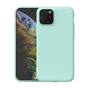100% bamboo fiber case biodegradable compostable cover for iphone xi,xs,x,xs max