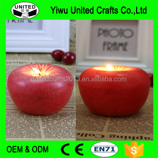 2017 high quality wholesale cheap fruit shaped scented candle