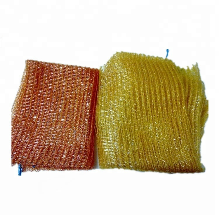 Plastic <strong>Material</strong> and PE Plastic Type raschel bag for onion