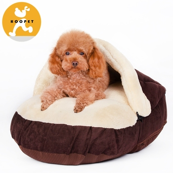 Hoopet Brown Slipper Shape Chew Proof Dog Bed